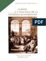 94060780 Themata Revista de Filosofia Leibniz Teoria y Practica de La Interdisciplinariedad Numero de Themata No 42 Jose L Montesinos Ed Juan Arana