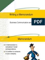 Writing a Memorandum