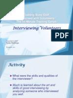 3Interviewing Volunteers