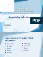 5Supervising Volunteers