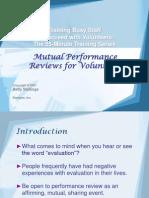 8Mutual Performance Reviews