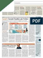 Corriere Economia - Social tv Scende l'Auditel, sale Twitter