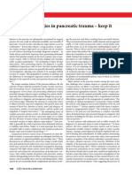 Editorial - Operative Strategies in Pancreatic Trauma - Keep It Safe and Simple