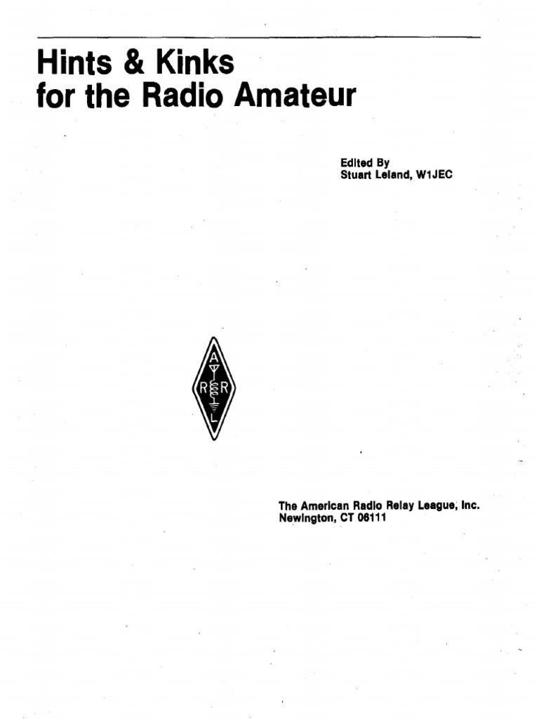 Hints And Kinks For The Radio Amateur 1978 Relay Microphone Swag Lamp Wiring Kit From Lee Valley Tools Voila Cool Lampand