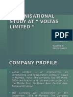 "Organisational Study at "" Voltas Limited """