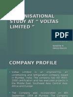 "Organisational Study at "" Voltas Limited """