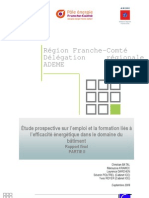 """étude Franche-Comté """"Efficacité énergétique, quels emplois pour demain ?"""" - Partie 2 Prospective"""