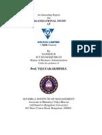 An Internship Report on Organizational Study At