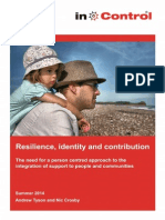Resilience identity and contribution