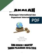 Makalah Hubungan International Dan Organisasi International 1 a4