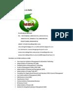 List of MBA Institutes in Delhi