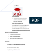 List of MBA Institutes in Patna