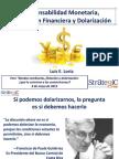 Luis E. Loría - Responsabilidad Monetaria, Integración Financiera y Dolarización