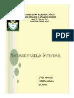 Rosa Oriondo - Normas de Etiquetado Nutricional