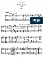 Franz Liszt - 8 Variations