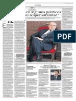 Lo Que Opinen Algunos Políticos Chilenos Es Su Responsabilidad