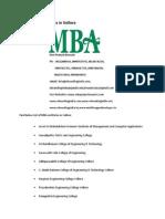 List of MBA Institutes in Vellore
