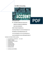 Project Report Titles for MBA in Accounting