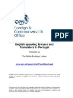 English Speaking Lawyers and Translators in Portugal 1