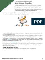 Guia – Construir Formulários Através Do Google Docs