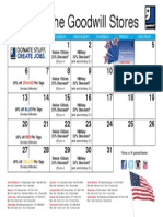 Goodwill's July Retail Calendar