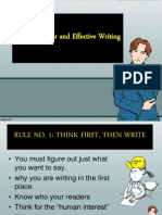 Rules on Clear and Effective Writing