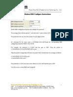 IP Modem SMS Configure Instructions