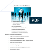 Project Report Titles for MBA in International Business