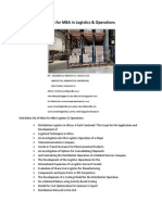 Project Report Titles for MBA in Logistics