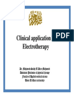 Clinical Application of Electrotherapy