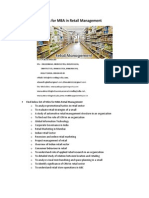 Project Report Titles for MBA in Retail Management