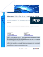 Quocirca Managed Print Services Landscape, 2014