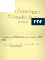 The American Colonial Rule