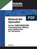 Manual de Caja Allison Ats200 Mercedes 1115