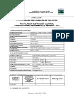 Formulario 2 Formulario de Presentacion Cultura 2014