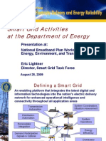 FCC NBP Presentation - Smart Grid Activities of US Dept of Energy by Eric Lightner 08-25-2009