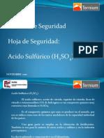 Platicas de Seguridad PATEC #2 Noviembre 2010 Manejo Acido Sulfurico