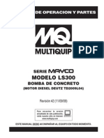 Pumps Concrete Masonry Hydraulic Swing Tube Mayco LS300 Spanish Rev 2 Manual DataId 18866 Version 1