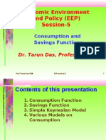 Consumption and Savings Functions by Prof. Tarun Das