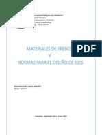 COEFICIENTES DE FRICCION TI´POS DE ACERO Y ANALISIS VOLANTE INERCIAY BIELA MANIVELA