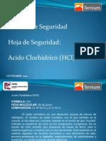 Platicas de Seguridad PATEC #4 Noviembre 2010 Manejo y Cuidados Acido Clorhidrico