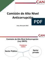 El trabajo de la Comisión de Alto Nivel Anticorrupción