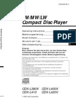 Sony Cdx L380X