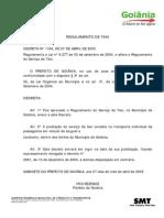 Regulamento Taxi Goiânia