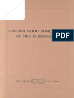 Sarojini Naidu- Some Facets of Her Personality