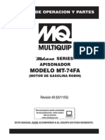 Rammers 4 Cycle MT74FA Spanish Rev 0 Manual DataId 18437 Version 1