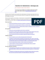 Exchange Labs FAQ Administrators_kf