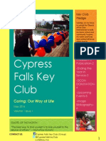 Cypress Falls Key Club May 2014 Newsletter