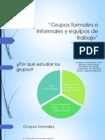 Grupos Formales e Informales y Equipos De