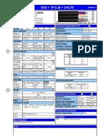 Cable Video Surveillance KX6+1P0.34+2x0.75 Nappe